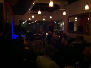 Shona Lindsay and Glyn Kerslake at Cafe Portico